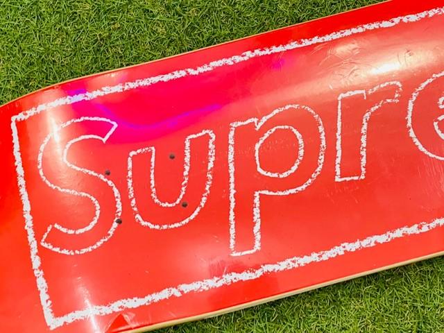 Supreme 21SS × KAWS CHALK LOGO SKATEBORD RED 110KC3316