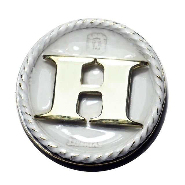 Initial Marker White / ゴルフボールマーカー