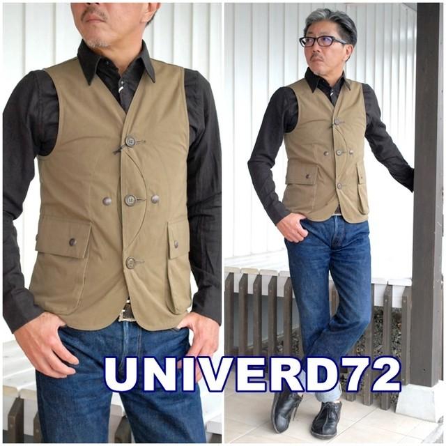 日本製『UNIVERD72/ユニバード72』 50495 ISLAND VEST / アイランドベスト ハンティングベスト ベスト ワークベスト 50495 送料無料 メイドインジャパン