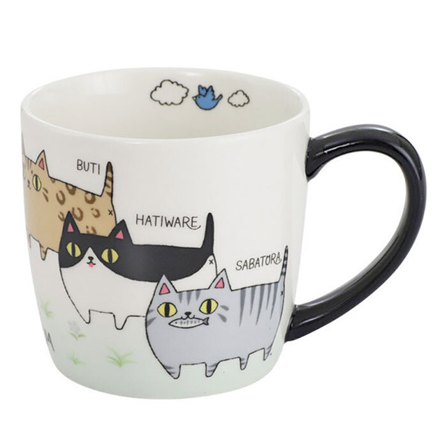 【三毛猫】ぷっくり肉球【猫柄 マグカップ 052-758】