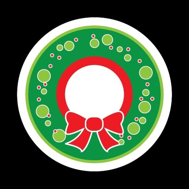 ゴーバッジ(ドーム)(CD0770 - Seasonal Wreath) - メイン画像