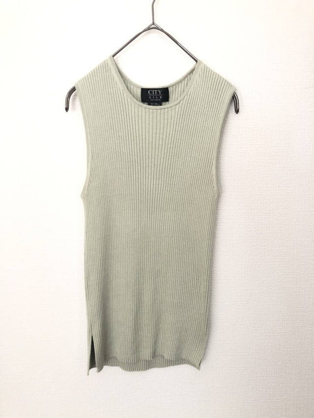 Silk no sleeve knit