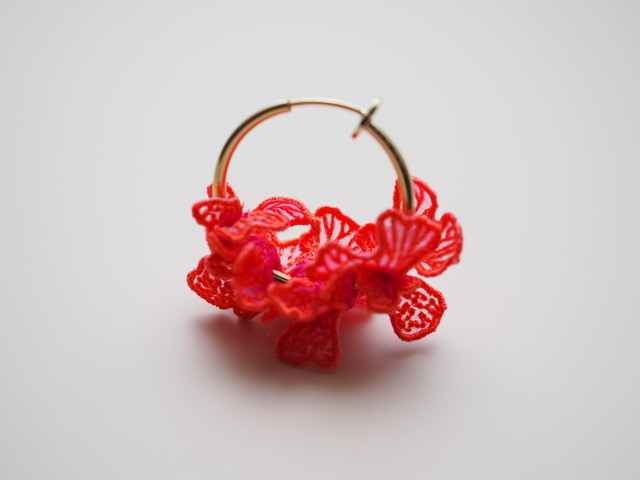 ARRO / Embroidery earring / SWELL / pink
