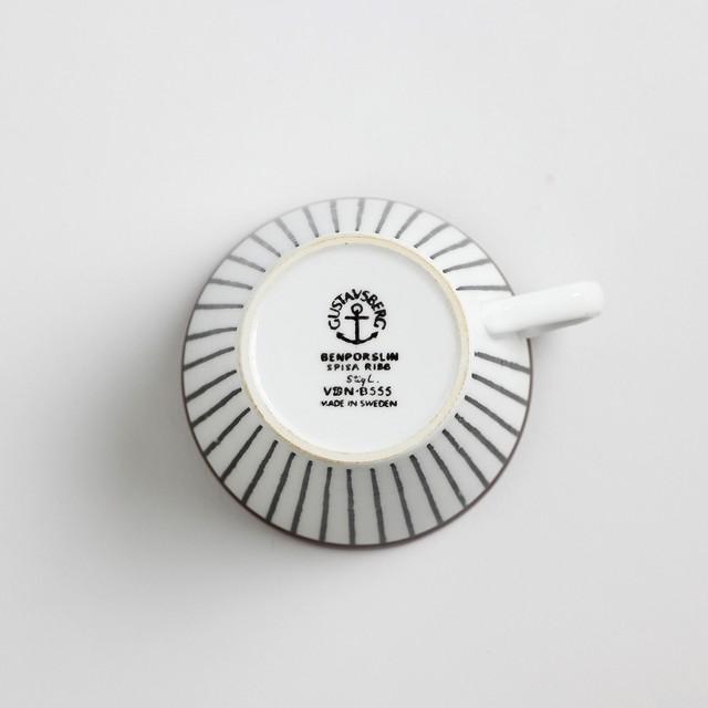 Gustavsberg グスタフスベリ Spisa Ribb スピサ リブ 76mm コーヒーカップ&ソーサー -1-2 北欧ヴィンテージ