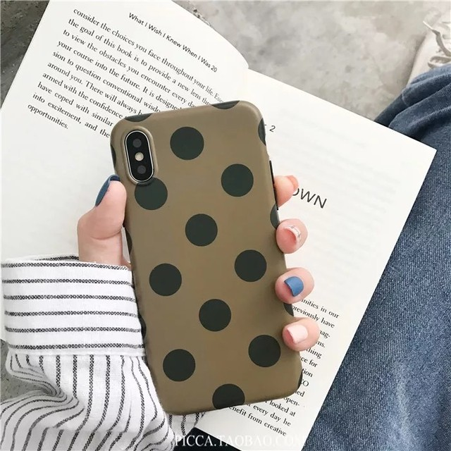 ◆予約◆big dots iPhone case (khaki)