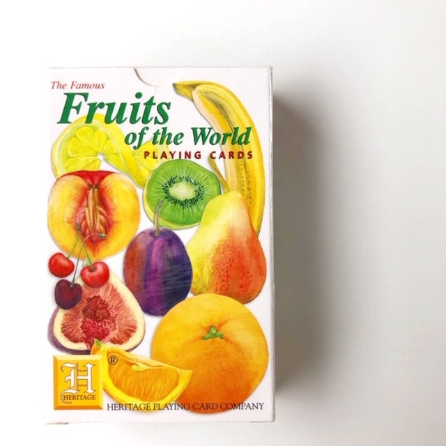 "HERITAGE  Playing Cards ""Fruits of the World"" トランプ"