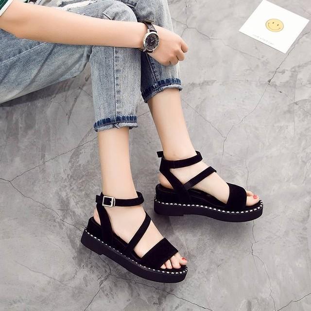 【shoes】ストラップ履きやすいシンプル滑り止めファッション感満載サンダル
