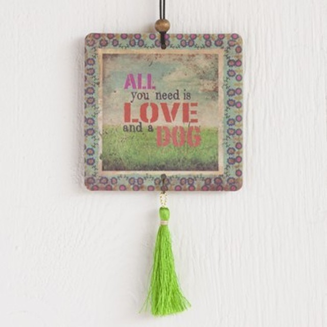 Love And A Dog Tassel Air Freshener