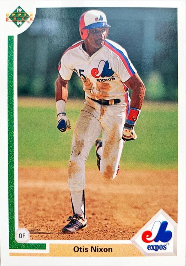 MLBカード 91UPPERDECK Otis Nixon #520 EXPOS