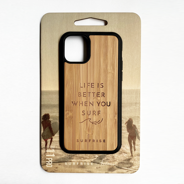 Bamboo iPhone case - LIFE IS BETTER