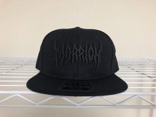 MARRION APPAREL LOGO CAP (Black×Black)