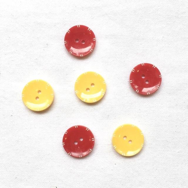 オランダボタン(イエロー レッド ホワイトポイント)