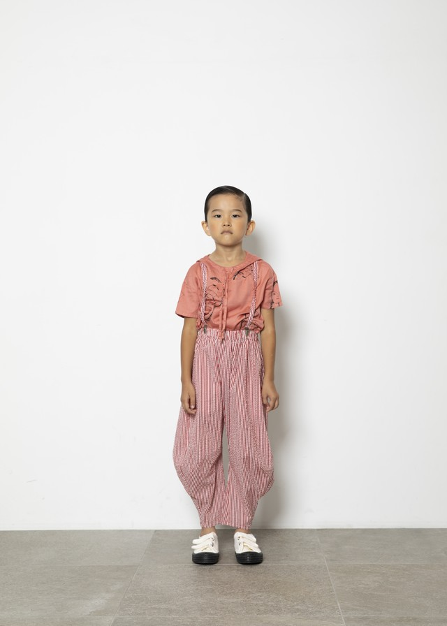 【21SS】folkmade(フォークメイド)miracle wave saspenders red stripe(S/M/L)