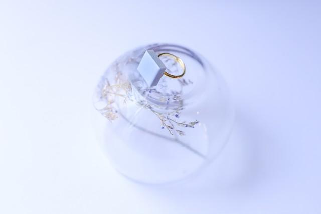 348伝統文化品美濃焼多治見四角タイル指輪・リング(フリーサイズ) ※証明書付