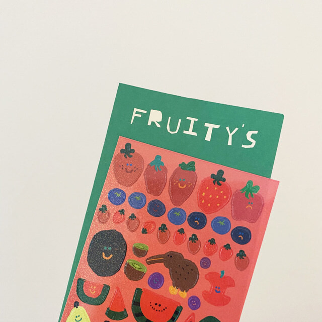[DINOTAENG] Fruity's リムーバルステッカー