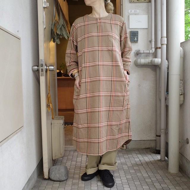 ts(s) ティーエスエス Henley Neck Shirt Dress