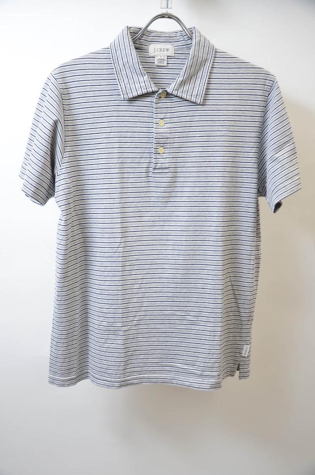 【Sサイズ】 J.CREW ジェイクルー BORDER POLO SHIRTボーダーポロシャツ GRAY グレー 400603190607