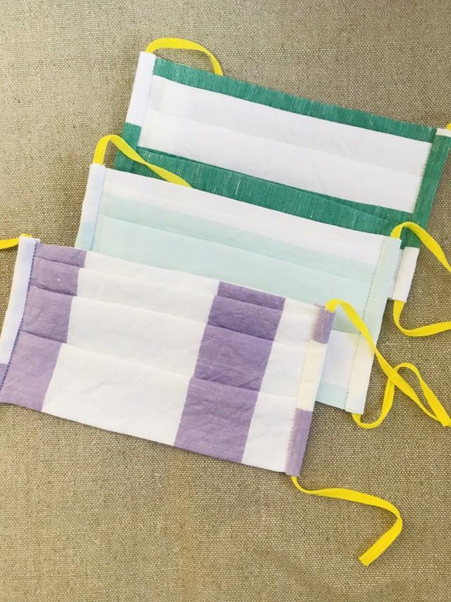 プリーツマスク 遠州織物×ダブルガーゼ スモールサイズ
