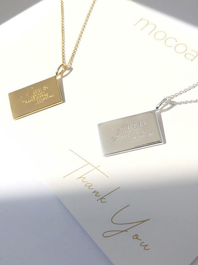 mocoa'sメッセージネックレス ¥15,800+tax