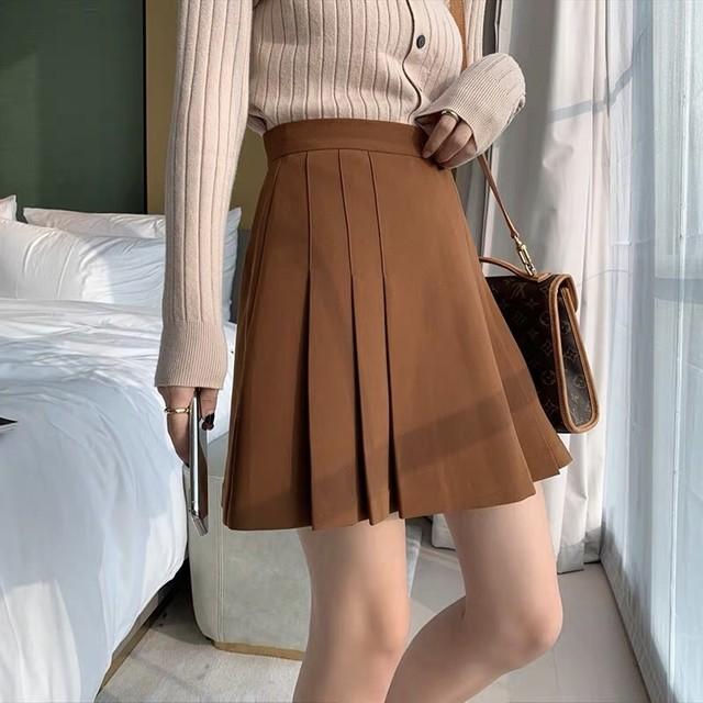 レトロプリーツスカート(全2色)