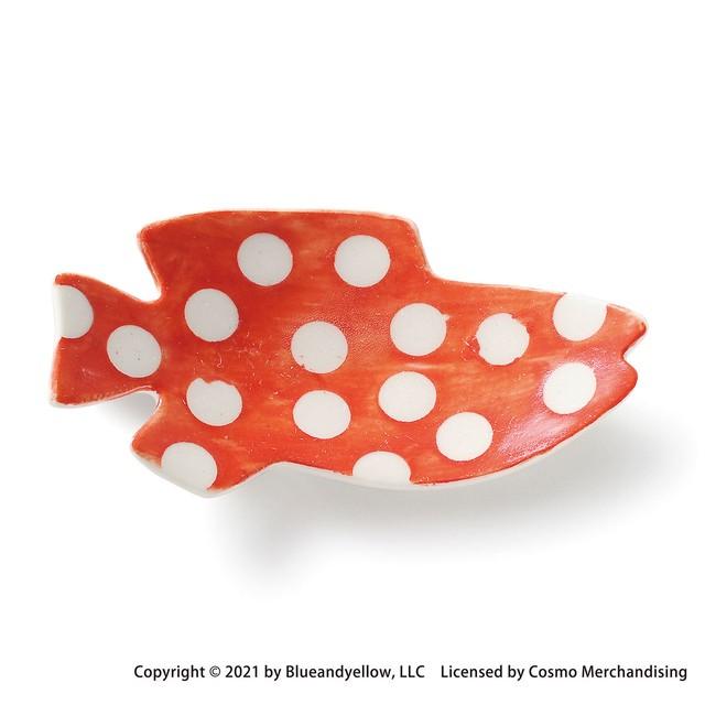 レオ・レオニ 豆皿 小皿 ミニ 皿 約8×4cm スイミー 赤ドット 瀬戸焼 278216