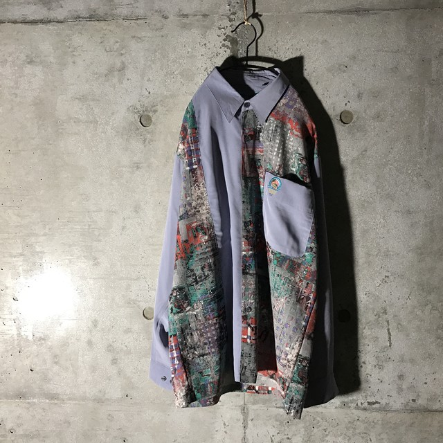 [used] water painting part designed shirt