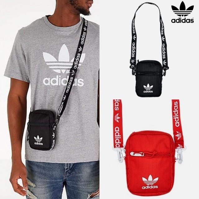 【adidas Originals】アディダス オリジナルス トレフォイル ロゴテープ ショルダーバッグ クロスボディ