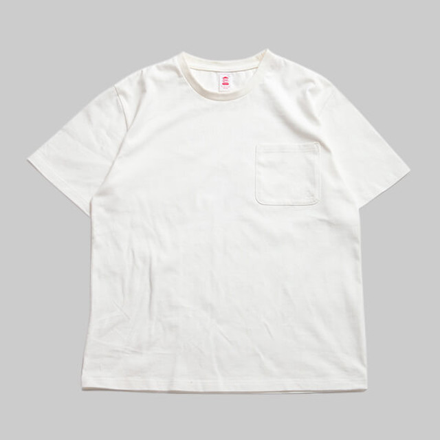 CC BASIC HEART POCKET T-SHIRT-WHITE