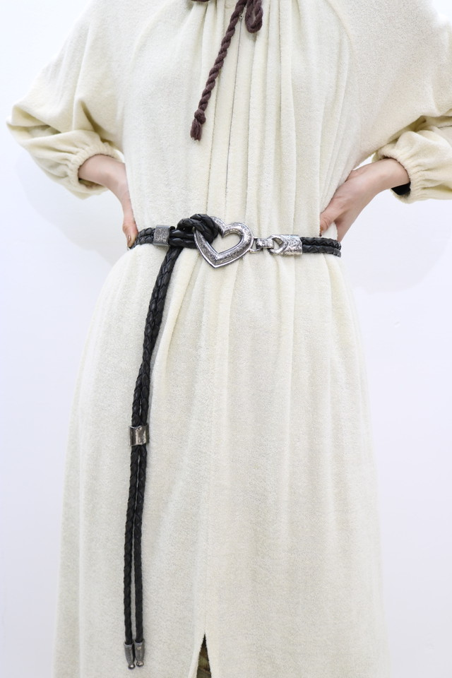 heart rope leather belt / GD11050015