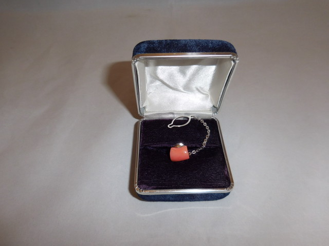珊瑚タイピン(ビンテージ) vintage coral tie pin