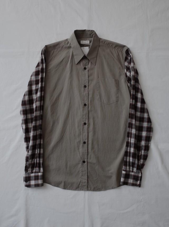 Used DRIES VAN NOTEN check sleeve shirt