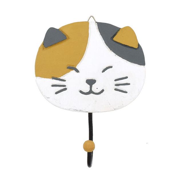 【三毛猫】カービングフック【猫雑貨 822-009】