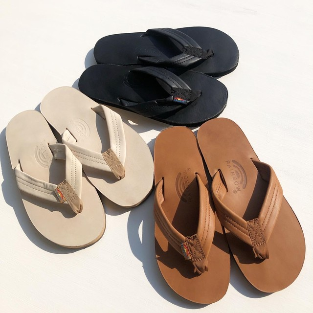 "Rainbow Sandals ""Single Layer Leather Arch Support"""
