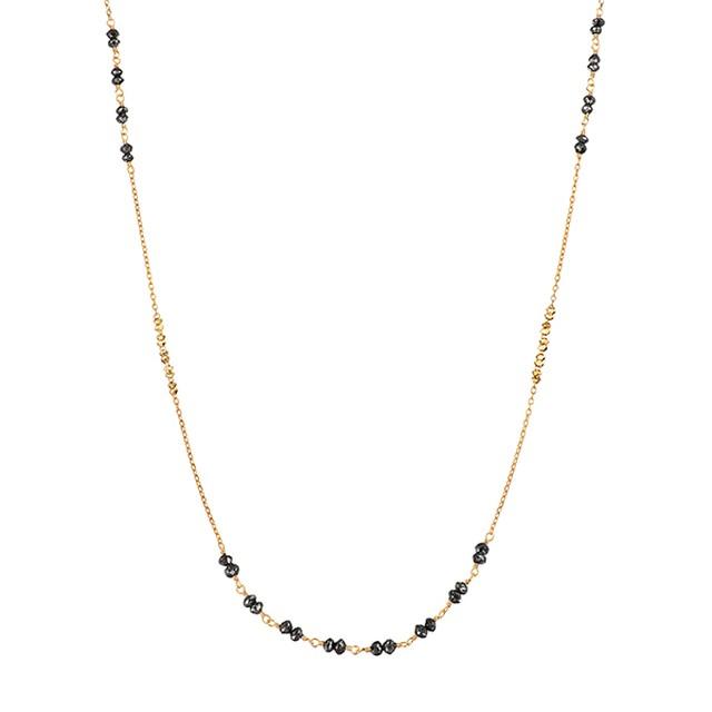 K18YGブラックダイヤモンドネックレス 030201000815