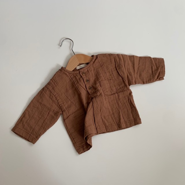 572. baby cotton tops / brown