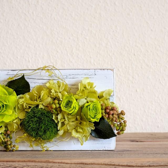 フレームフラワーアレンジメント green rose