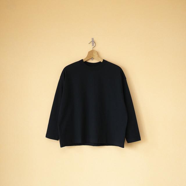 TRAVAIL MANUEL トラバイユマニュアル クラシック天竺ロングスリーブバインダーTシャツ・ブラック