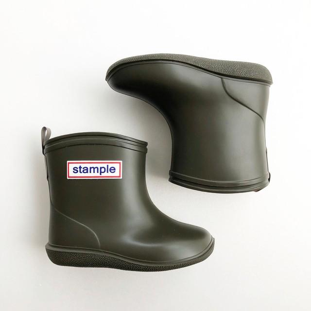 再入荷 ☆ stample Rain Boots  (MADE IN JAPAN) カーキ 13~15cm #75005 #40