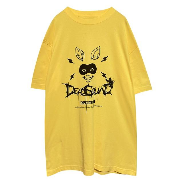 兎仮面 ルーズフィットTシャツ イエロー