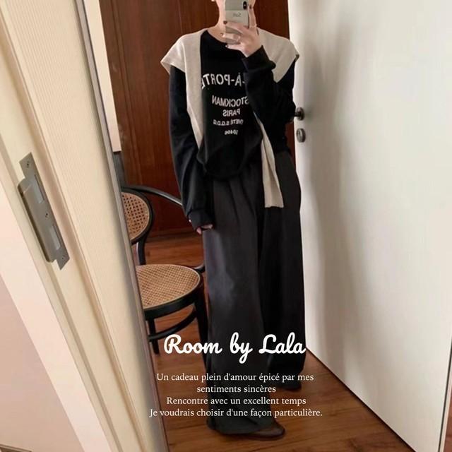 【即納】Letter print pullover / トップス /  LE202257