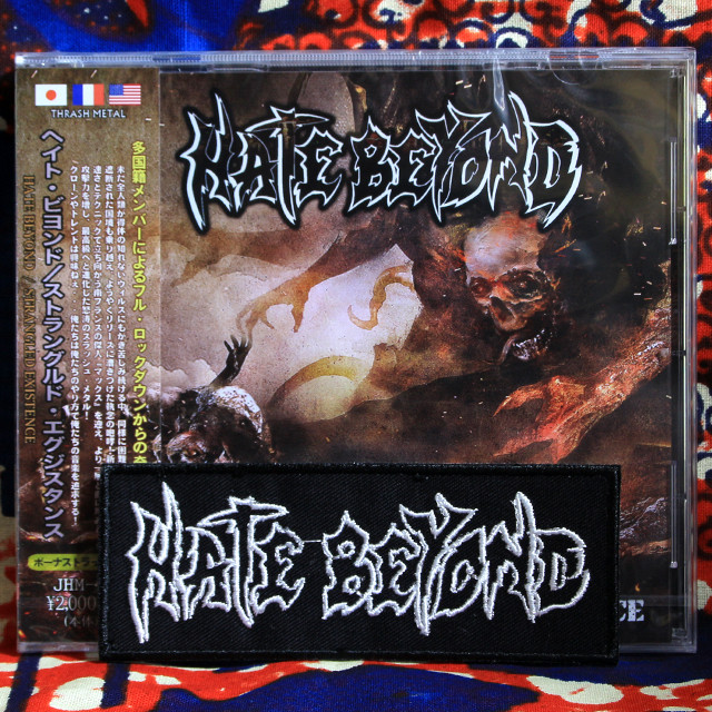 """HATE BEYOND """"Strangled Existence"""" CD +限定パッチ・セット!"""