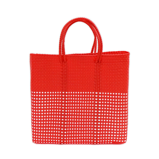 MERCADO BAG HALF MINI CHECK - Red(M)