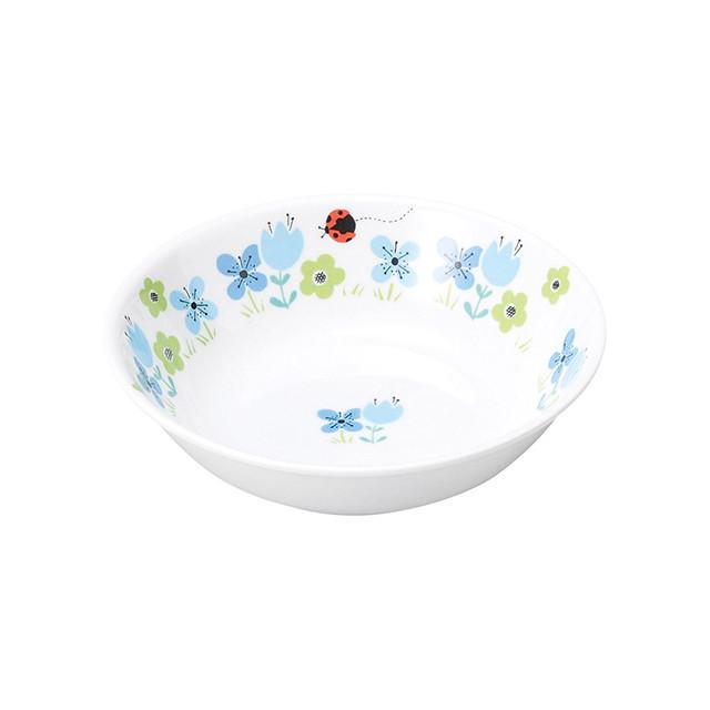 【1159-1330】強化磁器 深小皿 ブルーメ・ブルー