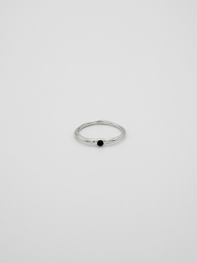random cut gem ring -onyx(再入荷)