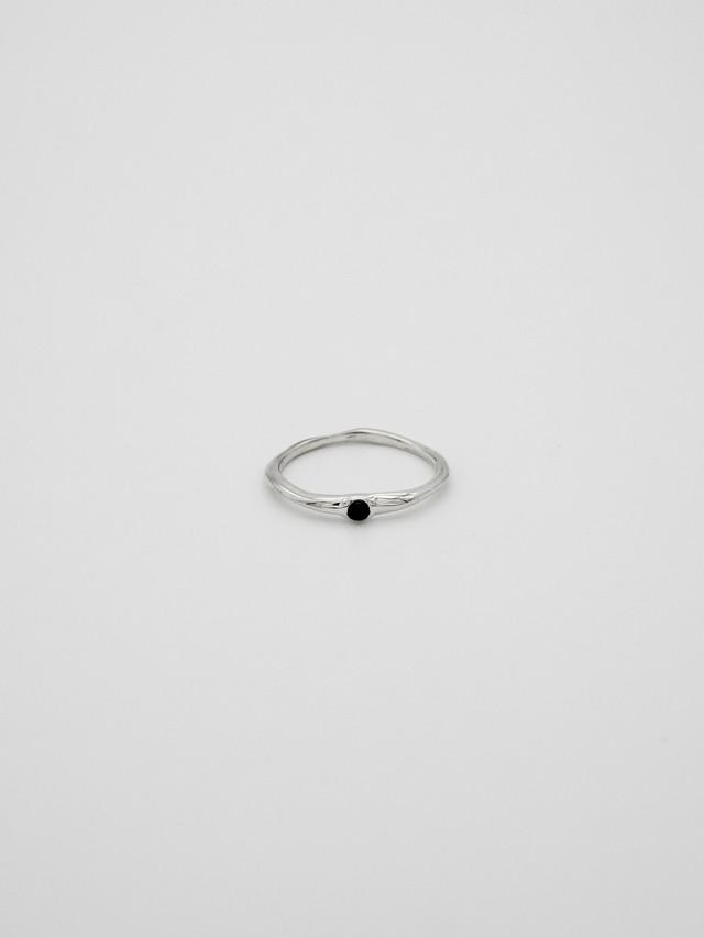 random cut gem ring -onyx(再入荷)