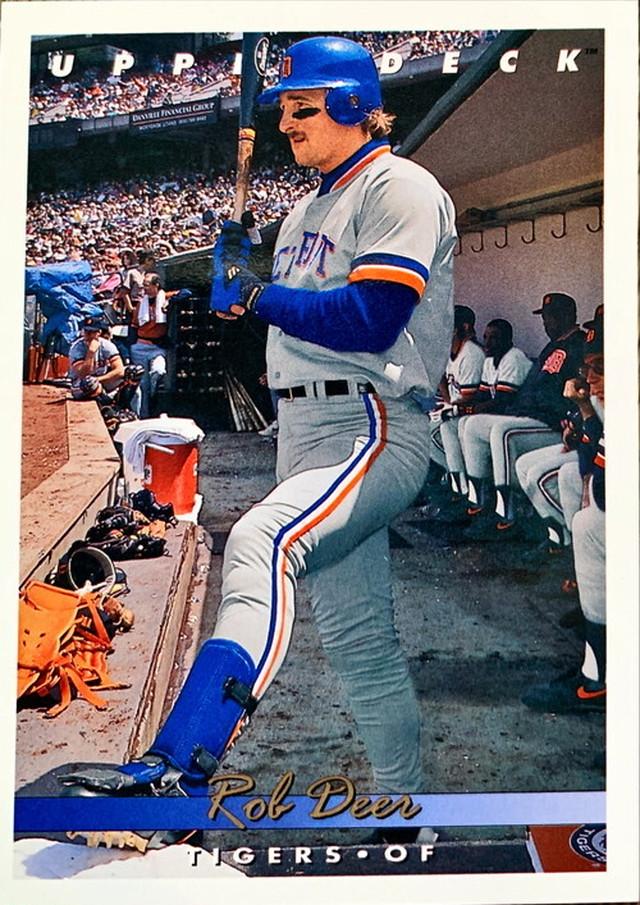 MLBカード 93UPPERDECK Rob Deer #217 TIGERS