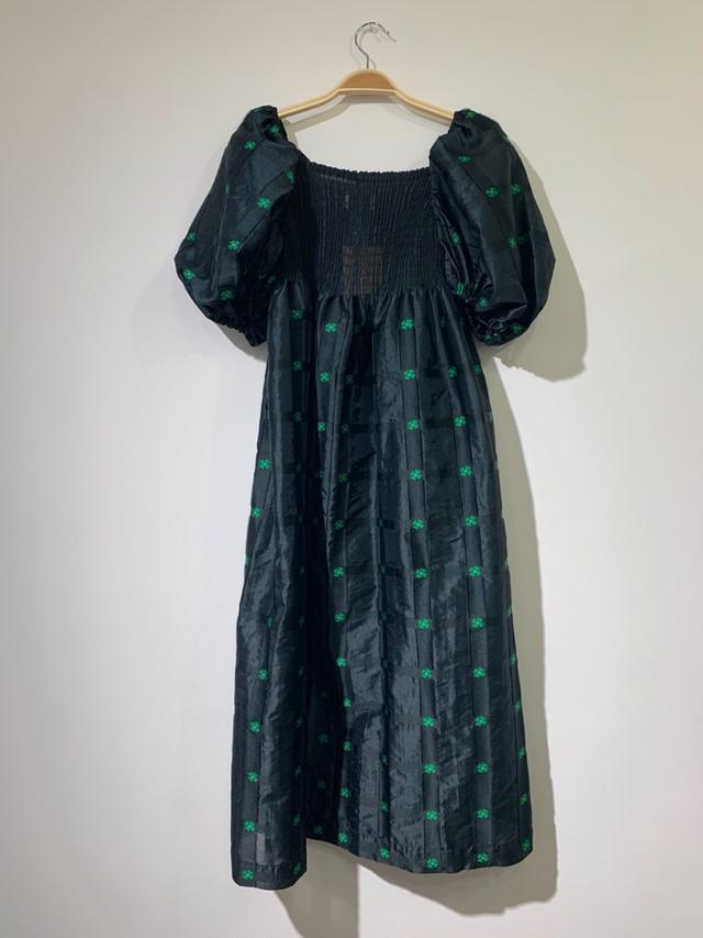 Flower Shirring Dress