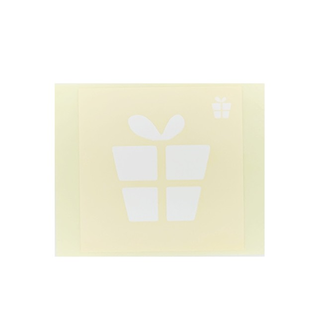 [テンプレートシール]  プレゼント (10枚入)