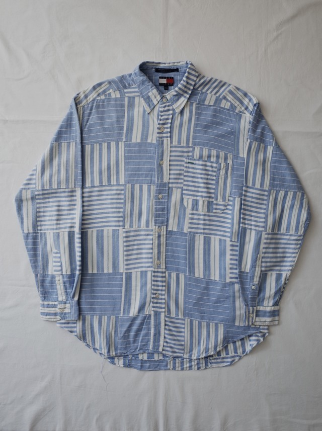 Used TOMMY HILFIGER patchwork shirt