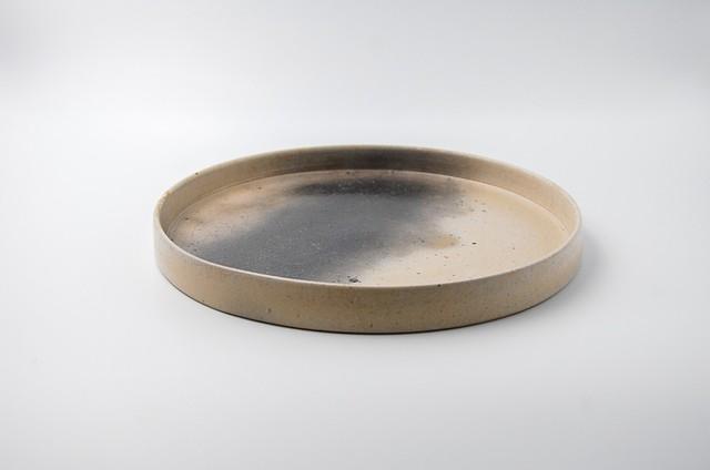 ◆受注生産◆  白炭化23㎝切立皿 オーダーメイド対応品